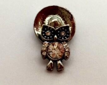 12mm Owl Snap Charm