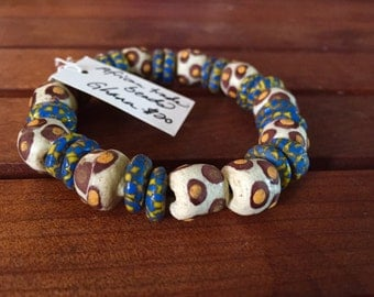 African trade bead bangle