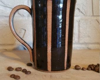 unique coffee mug, wheel thrown mug, pottery