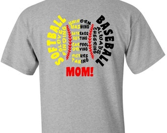 Baseball and Softball Mom Spirit Shirt