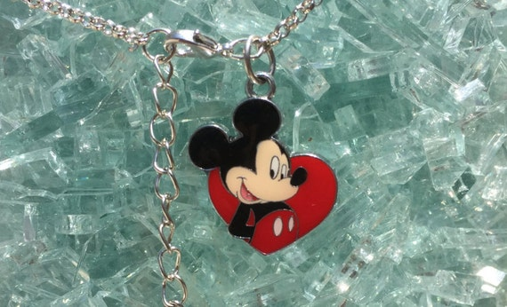 Mickey Mouse Pendant Silver Necklace