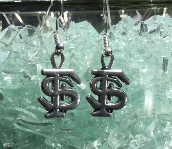 Florida State Seminoles Antique Silver Earrings