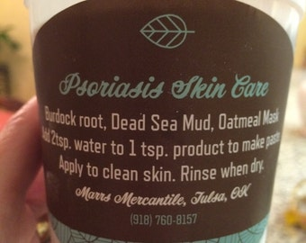 Dead Sea Mud Oatmeal Burdock Root Facial Mask - All Natural