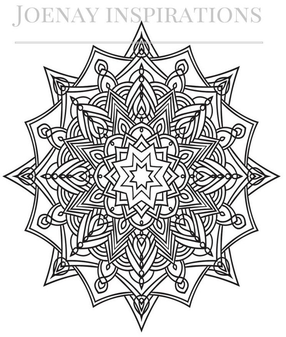 Adult Coloring Book, Printable Coloring Pages, Coloring Pages, Coloring Book for Adults, Instant Download Magnificent Mandalas 4 page 1