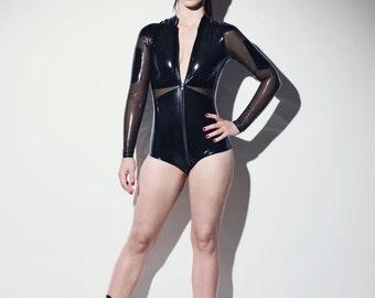 Militant Latex Bodysuit - Chronomatic Luxury Latex Wear