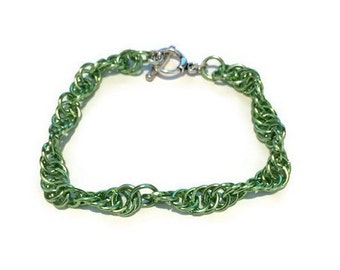 Chain Maille Spiral Style