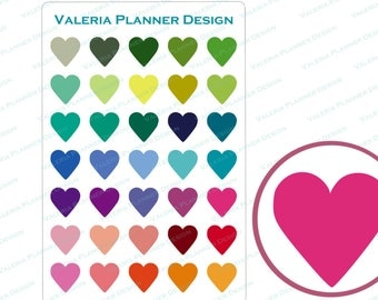 A0068 - Itty Bitty Hearts Planner Stickers, Hearts Stickers , Functional stickers