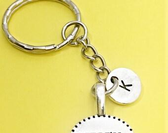 I will motivational keychain, motivation charm, I will keychain, i will word charm, personalized,initial keychain,inspiration,I will cut you