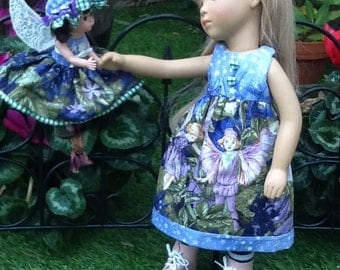 Reversible flower fairies dress and accessories for 17 inch / 18 inch  Gotz Sylvia Natterer, or similar doll