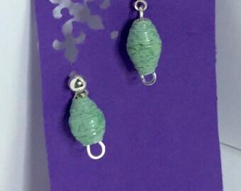 Petite, teal post earrings