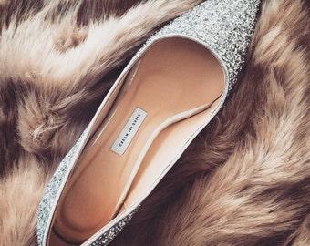 EU 40, wedding shoes, bridal shoes, silver wedding shoes,low heels,Glitter Shoes,wedding shoes,Bridesmaid shoes,girlfriend gift,Pumps