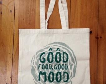 Good Food Good Mood Canvas Tote