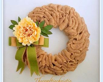 Summer Burlap Wreath-Summer Peony Wreath-Burlap Wreath-Summer Wreath for Front Door-Front Door Wreaths-Everyday Wreath-Wedding Wreath