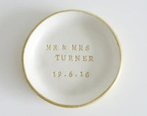 Personalised Wedding Ring dish, ring bowl, ring cushion - with this ring, wedding gift, ring bearer, wedding day gifts, wedding day