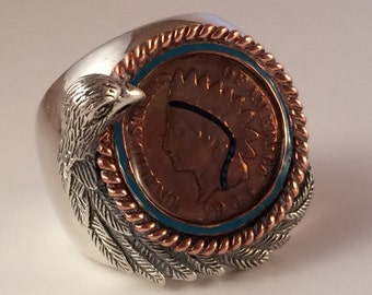 American Indian Head Penny Ring