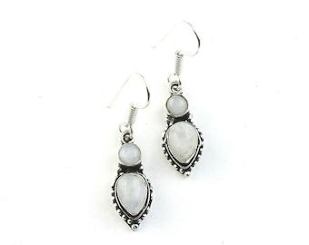 Moonstone Earrings, Boho Jewelry, Tribal Earrings,  Festival Earrings, Gypsy Earrings, Ethnic Earrings, Hippie Jewelry