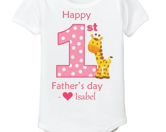 First Fathers Day onsie baby girl