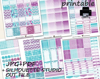 40% OFF SALE/April Monthly Planner Stickers/Printable Planner Stickers for Erin Condren Lifeplanner/Planner Stickers/April Planner Sticker