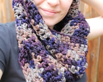 READY TO SHIP // The Patch // Chunky Infinity Scarf // Cowl // Hood - in Stillness