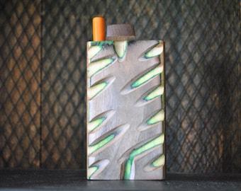 "NEW Green One Hitter DUGOUT Box 4"" Wood"