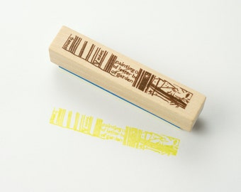 Chamil Grande Wood Rubber Stamp - STREET B8