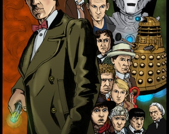 DOCTOR WHO 50th Print by Doc Vaughn