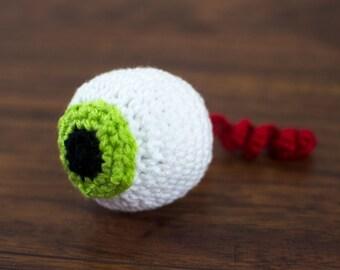 Cat toy eyeball catnip crochet