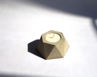 Hexagonal Concrete Tealight Holders