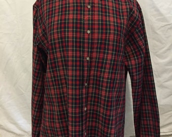 Men's Vintage Pendleton 1970's virgin wool flannel shirt