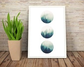 Minimalist Forest Wall Art, Forest Photography, Tree Print, Hipster Wall Decor, Artsy Gifts Boyfriend, Him, Coworker Gifts, INSTANT DOWNLOAD