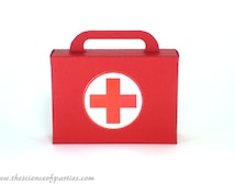 First aid kit favor box