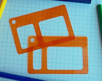 Hourly Set, Planner Stencil, Erin Condren Hourly Blocks - 035 (Credit Card Size Stencil Set)