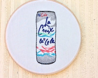 La Croix Ni Cola embroidery love