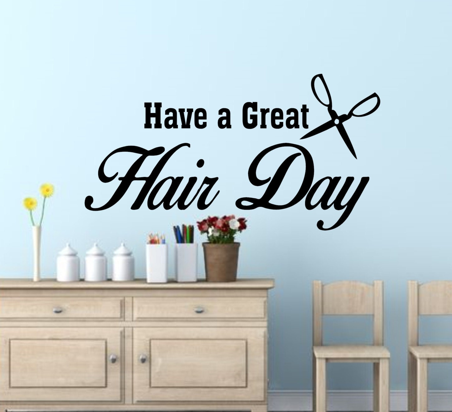 Hair Salon Wall Decor hair salon decor-have a great hair day-salon wall decals-salon