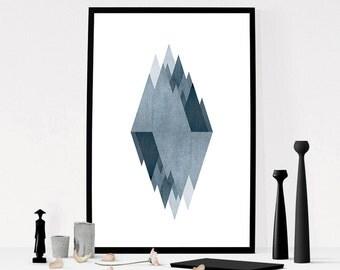 Printable Modern Mid Century Art, Geometric Print, Scandinavian Print, Nordic Print, Printable Scandinavian Poster, Modern Geometric Art