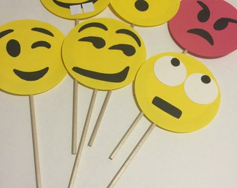 6 Pack of Emoji Photo Booth Props -- Part 2!