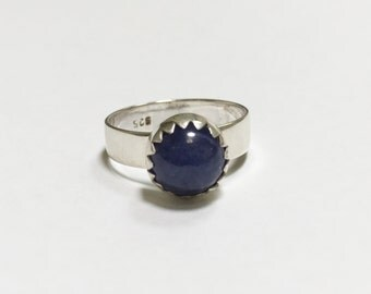 Tanzanite Silver Ring - Hand made in Australia - Ring size: US-7.5 100% solid 925 sterling silver