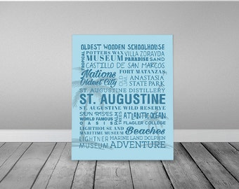 St. Augustine Florida Themed Canvas