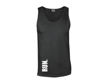 Run. Man'S Gym tank, Fitness t-shirt, Men's tank top, Workout Clothes, Workout, Workout Tank, Run Tank, Running Clothe for Men
