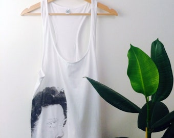 Screen Printed Organic Oversized Vest - Face