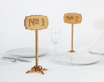 Wedding table number, wooden table numbers, rustic table numbers, unfinished wood numbers, diy wedding table decoration
