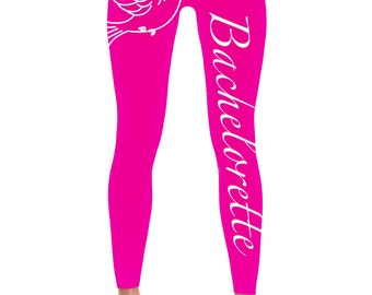 Bachelorette Leggings -Bride Leggings- Bachelorette party Leggings - Bridal-Wedding