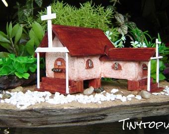 Miniature Fairy Garden Church OOAK