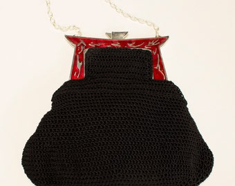 NÜSHU party bag with glazed fire nozzle