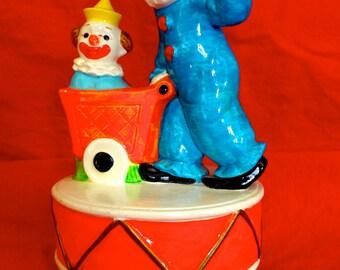 Vintage Clown Music Box