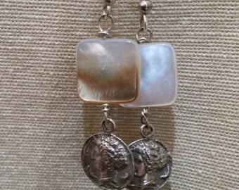 Arethusa and mother of pearl earrings