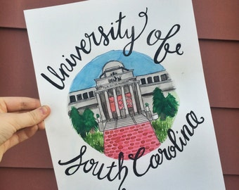University of South Carolina Watercolor