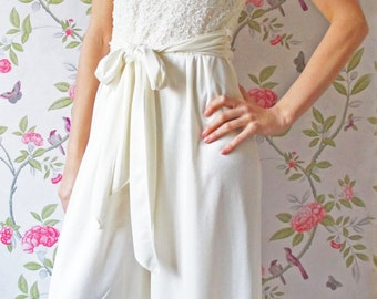 Cora 1980s vintage wedding jumpsuit