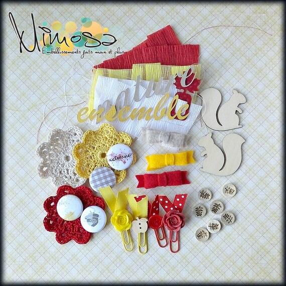 Kit scrapbooking, Carterie, Embellissements, Fait main, Album souvenir, Automne 2016