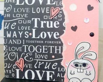FREE SHIPPING***true love handmade card